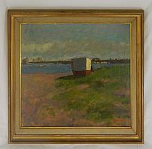Bernard Lennon Oil on Canvas of Landscape