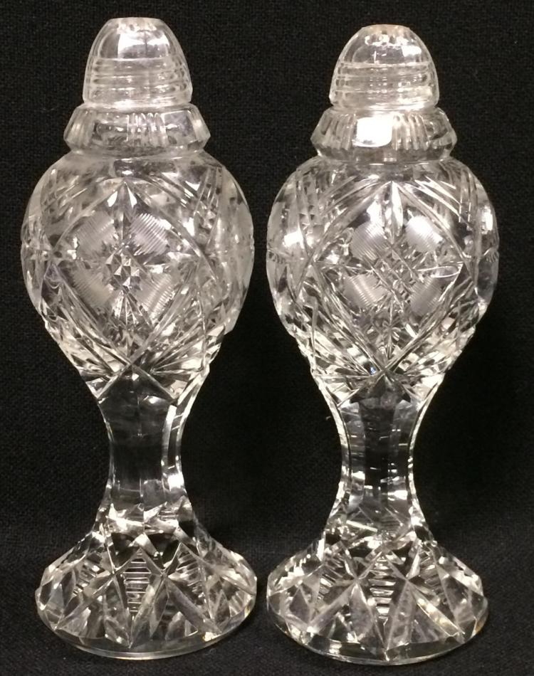 Pair of cut glass shakers How can i cut glass at home