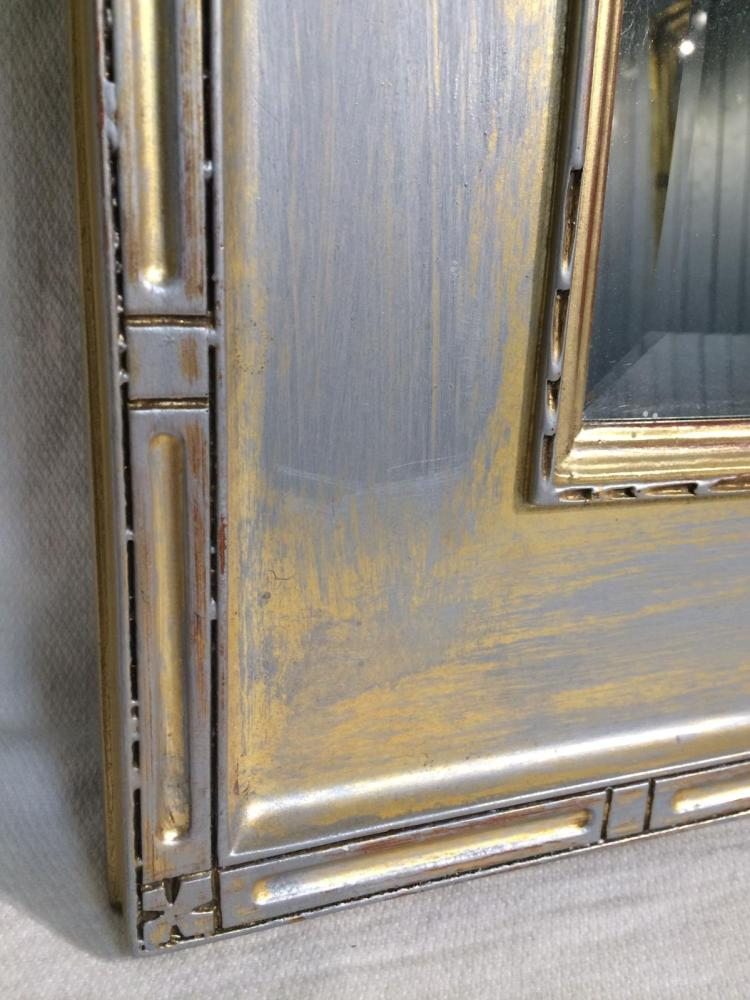 Beveled glass mirror in wooden frame for Beveled glass mirror