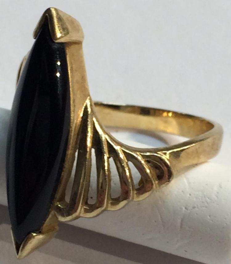 black stone gold ring - photo #25