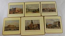 Group of 6 London Scenes on Cork Tiles