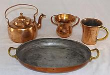 4 Piece Copper Set