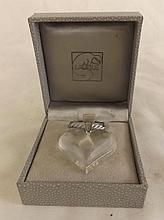 Lalique Heart Necklace