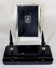 Shaffers Desk Set & Lunt Sterling Picture Frame