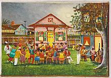 Oil on Canvas Signed Eramirez