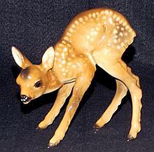 Porcelain Deer Figurine