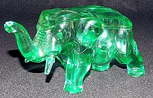 Elephant Covered Jar