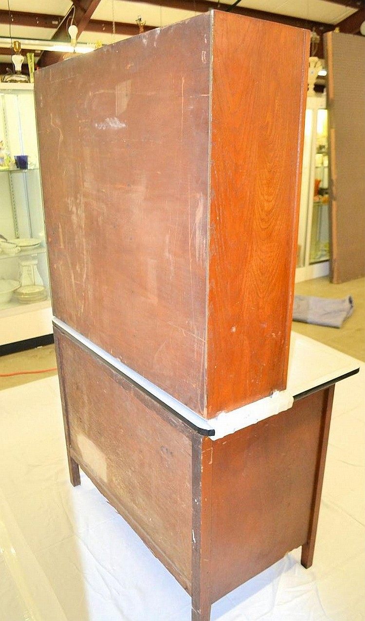 Enamel top kitchen cabinet for Auctions for kitchen cabinets