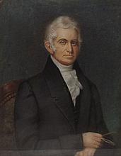 William Edgar Portrait in Carved Frame, Pastel