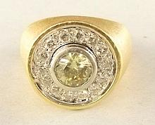 14 kt. Gold and 1.2 ct. Diamond Ring