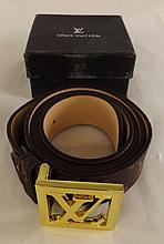 Louis Vuitton Leather Belt in Original Box