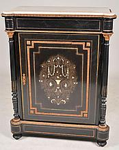 Frenchl Paint Decorated Marble Top Cabinet