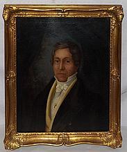 Oil on Board Portrait of Man in Gilt Frame
