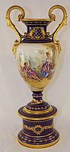 Hand Painted Scenic Porcelain Urn