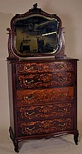 Horner inlaid Serpentine Front Bedroom Suit