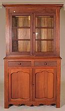 Walnut Stepback Cupboard.