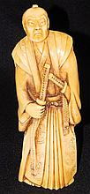 Decorated Ivory Carving of Oriental Man