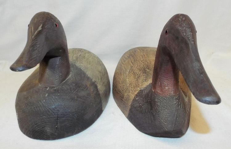 2 Tom Martindale Wooden Duck Decoys