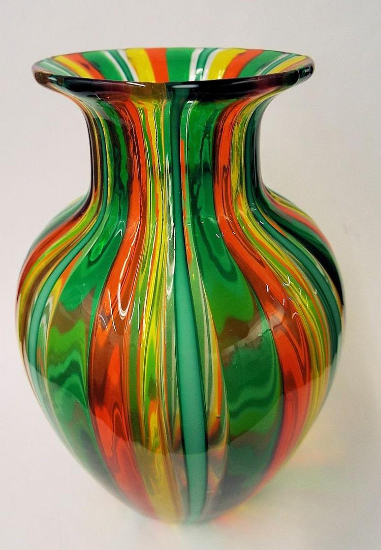 Ogetti Italy Art Glass Vase
