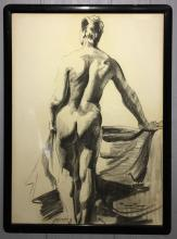 Francis Crist Drawing Of Nude