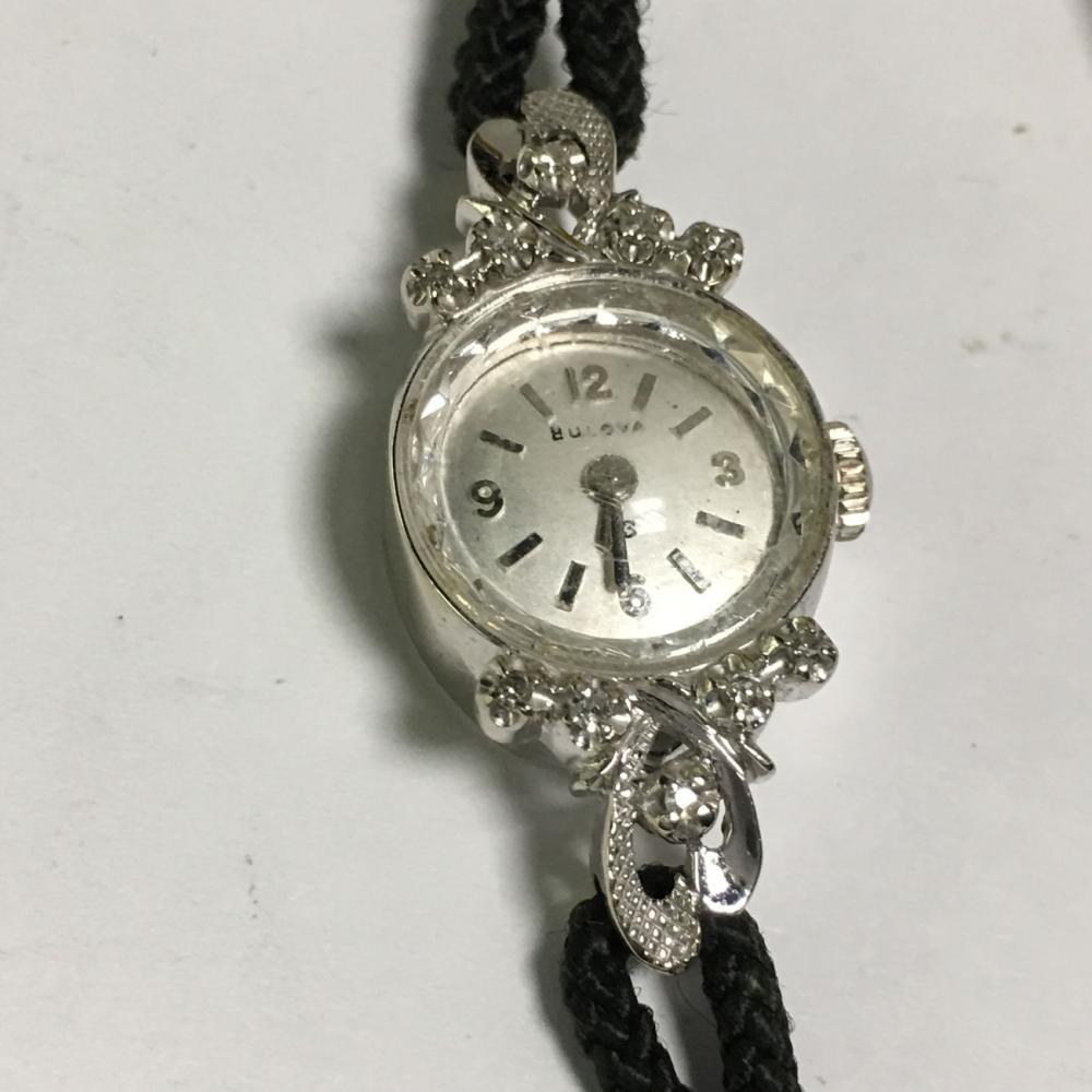 Diamond & 14k Gold Bulova Ladies Wrist Watch