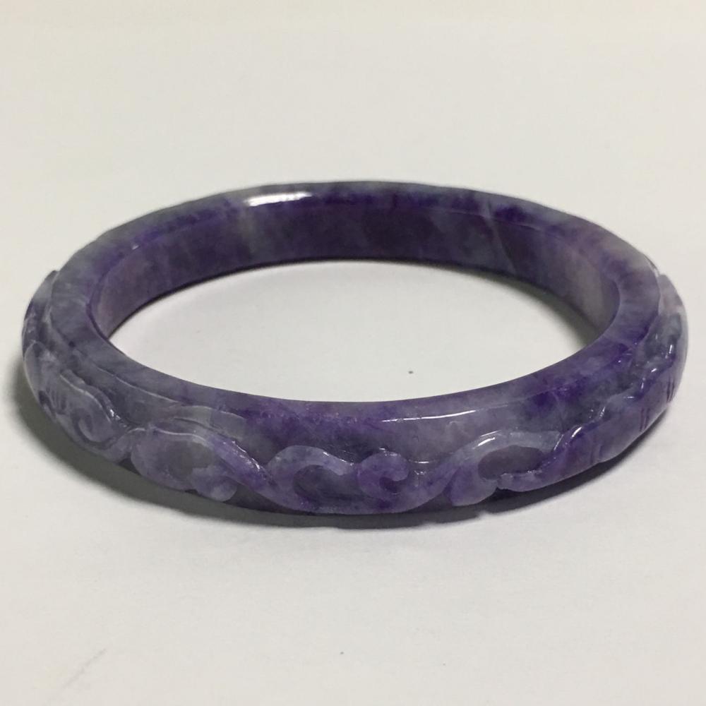 Jade Lavendar Bangle Bracelet