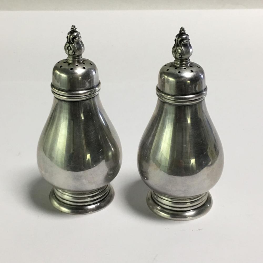 Royal Danish Sterling Salt + Pepper Shakers