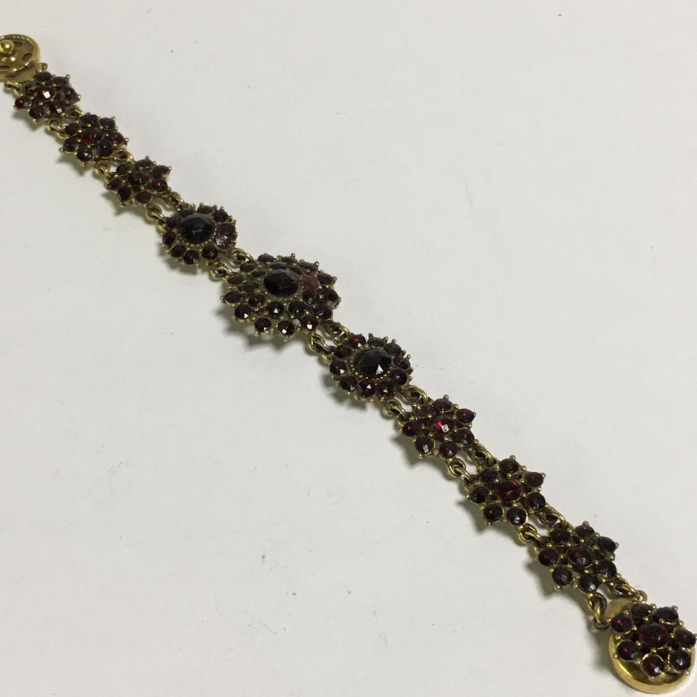Garnet And Gold Filled Bracelet