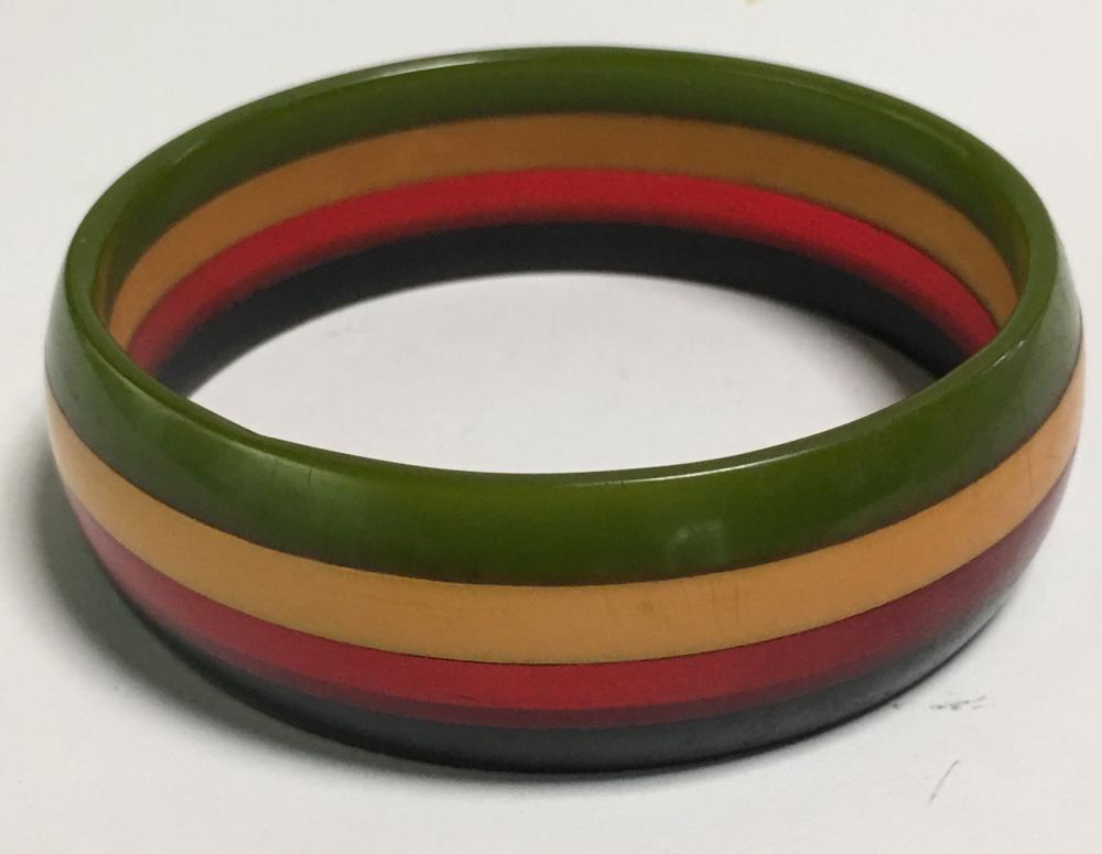 Rare Antique Bakelite 4 Color Bracelet