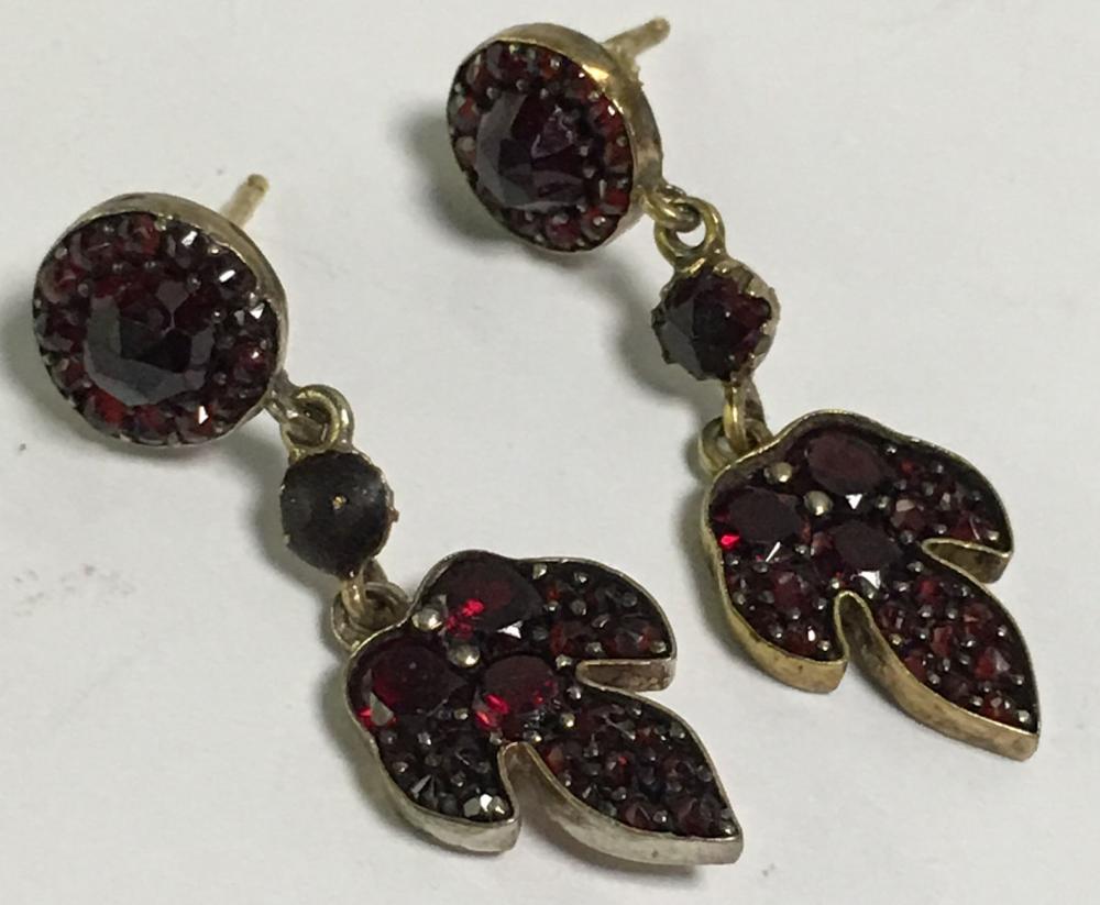 Pair Of Garnet Earrings