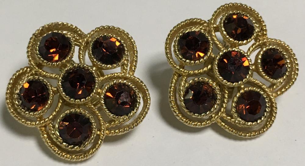 Pair Of Trifari Clip Earrings