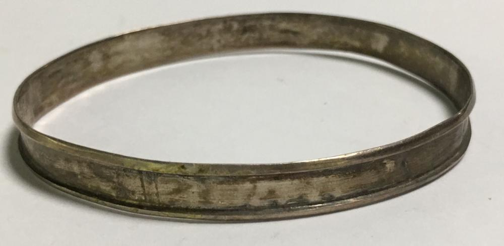 Mexico Sterling Silver Bangle Bracelet