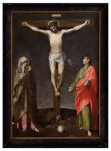BARTOLOMEO CESI (Bologna, 1556 - 1629), ATTRIBUTED TO - Crucifixion with Magdalene and Saint John Evangelist