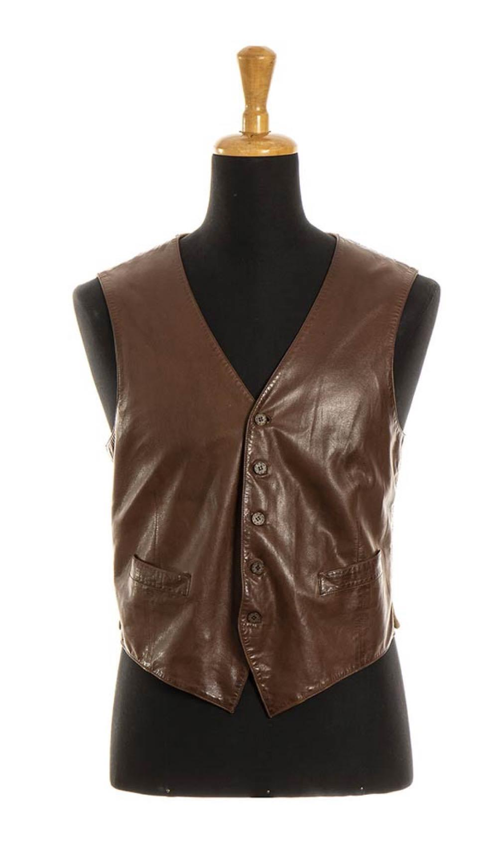 GUCCI - LEATHER VEST - Late 70s