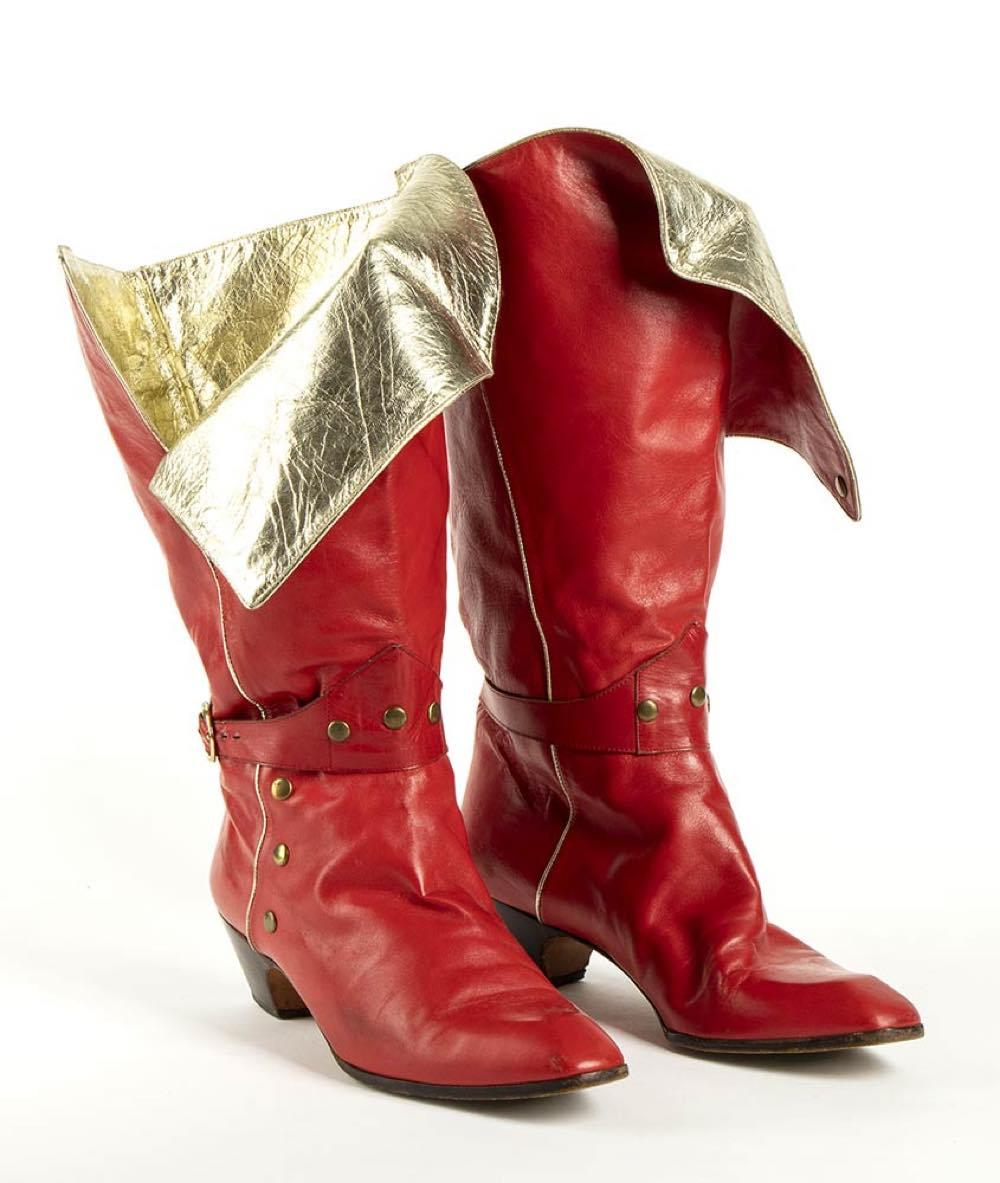 PUPI D'ANGIERI - LEATHER BOOTS - 80s