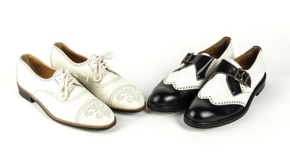 ENRICO COVERI - 2 PAIR OF LEATHER SHOES - 80s