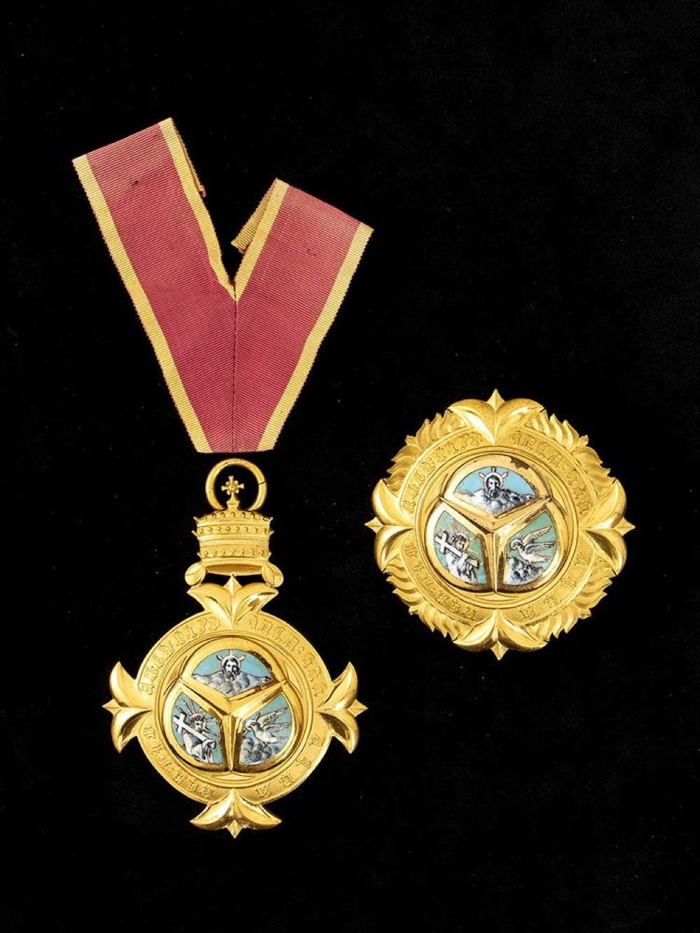 Ethiopia, an order of the Holy Trinity, Grand Cross breast star end pendant