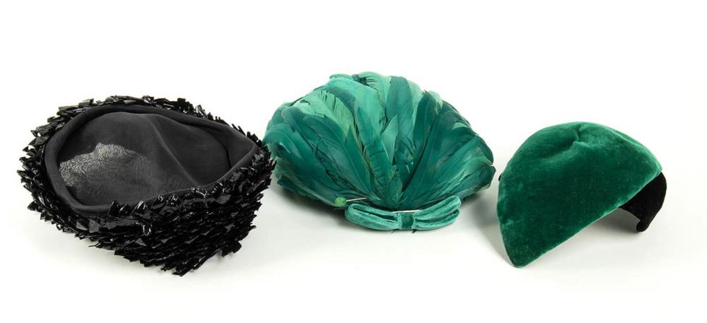 CESARE CANESSA - LOT OF 3 HATS - 50s / 60s