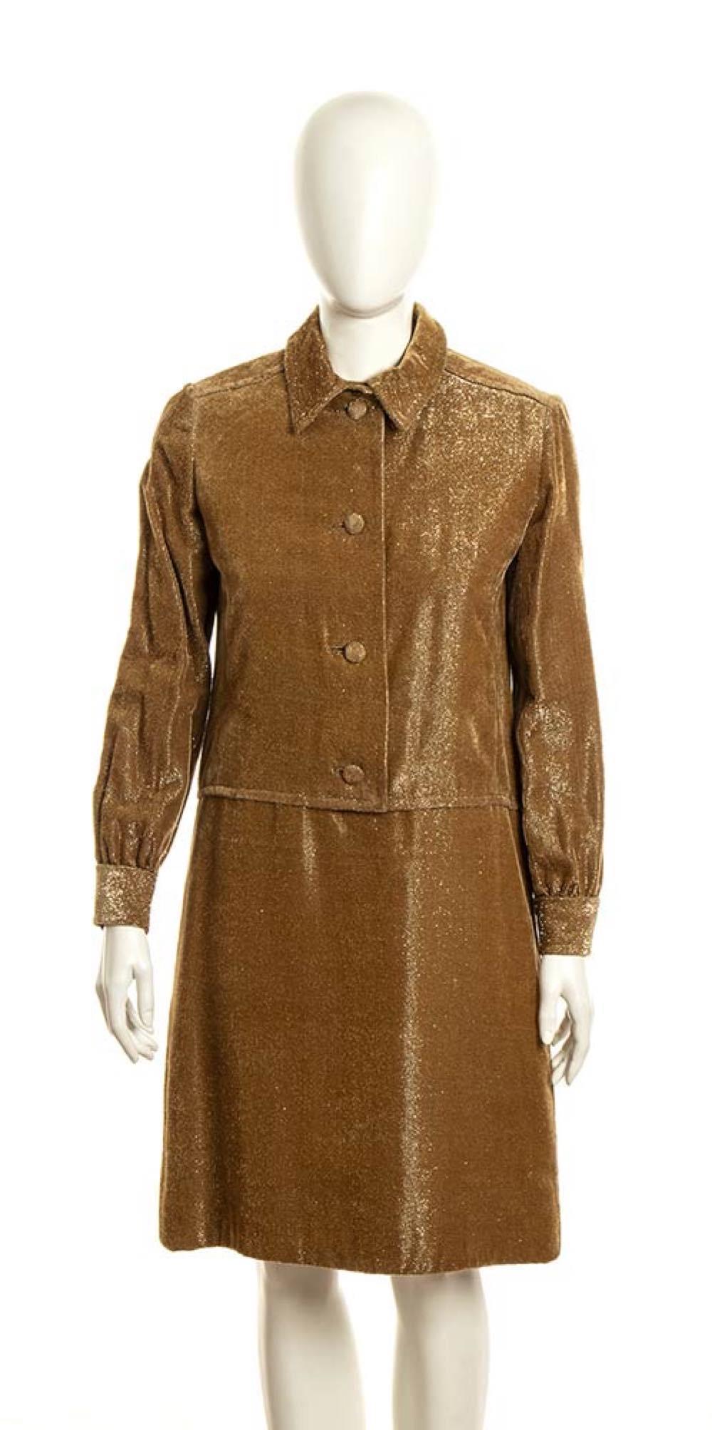 LANCETTI - LAME' DRESS - Mid 60s