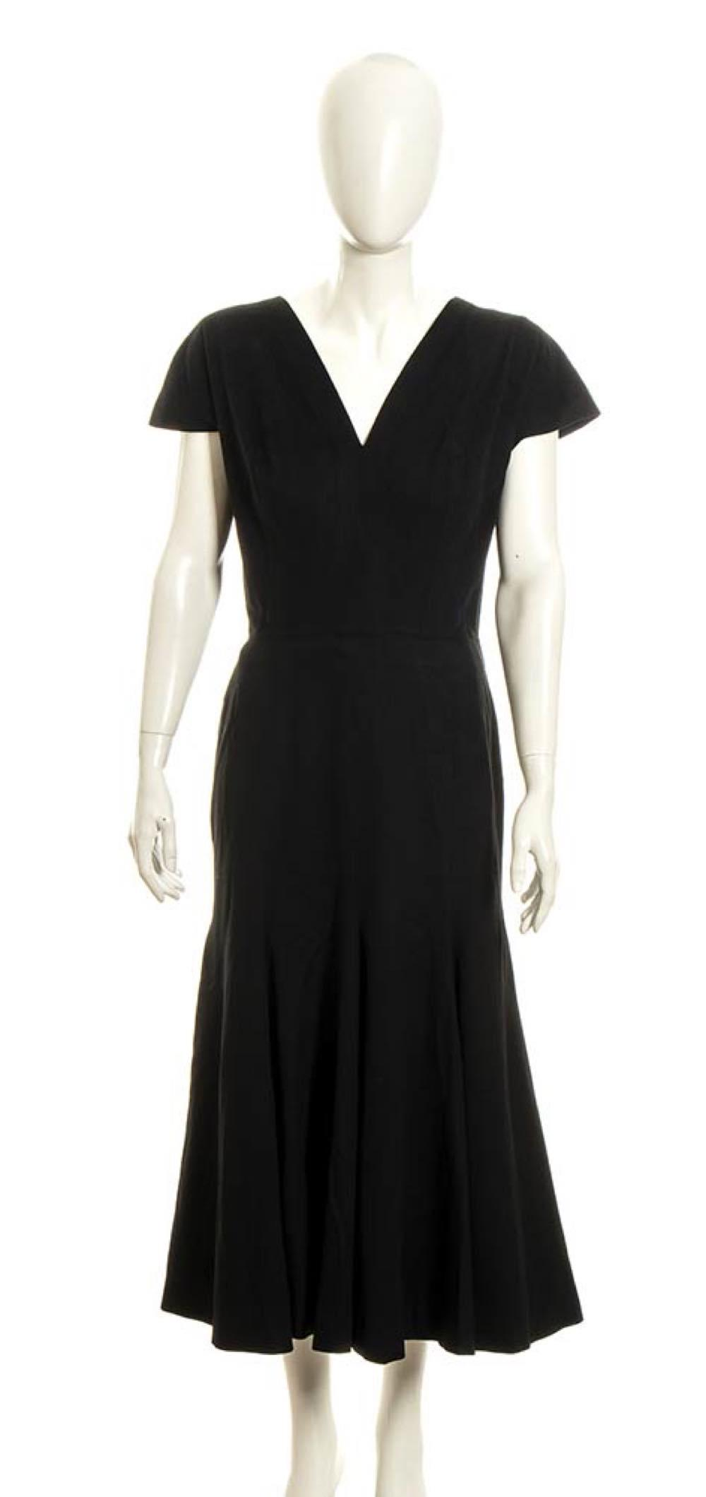 ELSA SCHIAPARELLI - WOOL DRESS - 40s