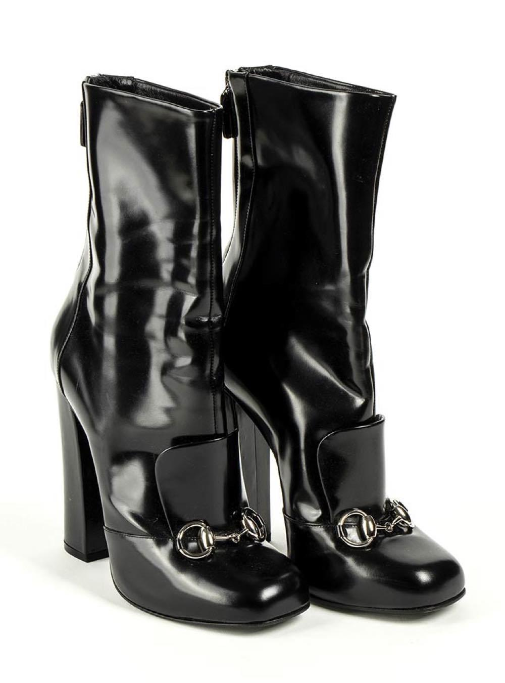 GUCCI - LEATHER ANKLE BOOTS - 2010 ca