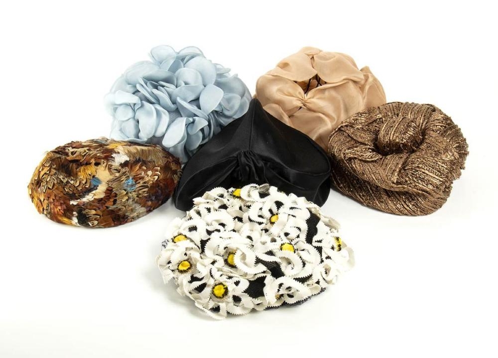 LOT OF 6 HATS - 50s / 60s