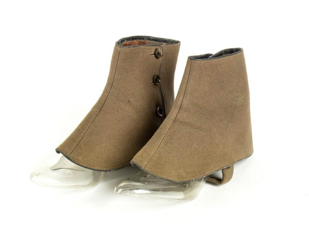 LEATHER SPATS - Early 20th century