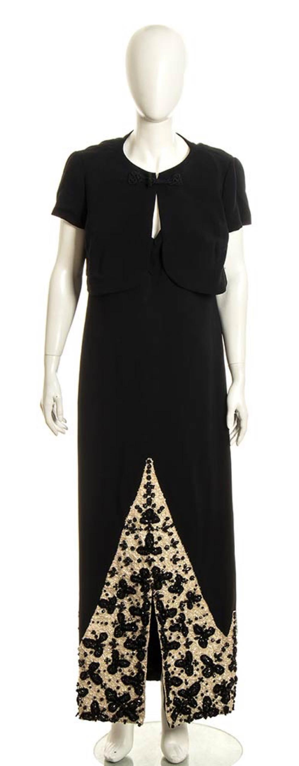 PINA DRUSIAN - CREPE EVENING DRESS - 60s