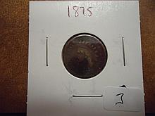 1875 INDIAN HEAD CENT SEMI KEY