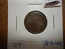 1924 CANADA 1 CENT (FINE) SEMI KEY