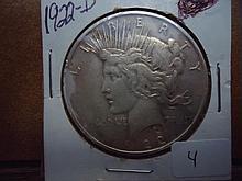 1922-D PEACE SILVER DOLLAR