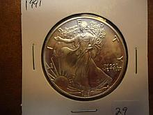 1991 AMERICAN SILVER EAGLE UNC