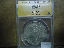 1898-S MORGAN SILVER DOLLAR ANACS AU50 DETAILS