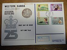 1977 WESTERN SAMOA UNC TALA IN PNC BY HUTT COMMEMS